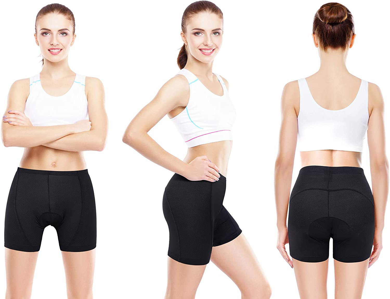 Sportneer Womens Padded Cycling Underwear 3D Padding Bike Bicycle Biking Shorts Underwear Designed for Women