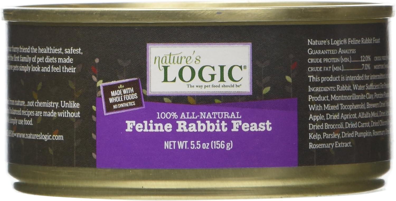 NATURE'S LOGIC Feline Rabbit Dinner Fare Cat Food (Case of 12)