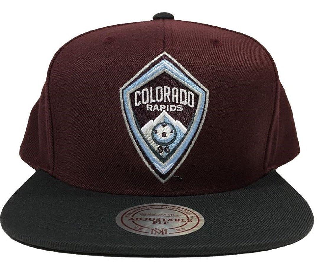 Mitchell and Ness Colorado Rapids 2Tone Team Logo Snapback Cap Burgundy//Black