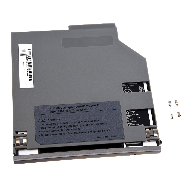 Semoic SATA Segundo Adaptador Caddy de Bahia de HDD Dispositivo de Disco Duro para DELL Latitude D800 D810 D820 D830 Plata