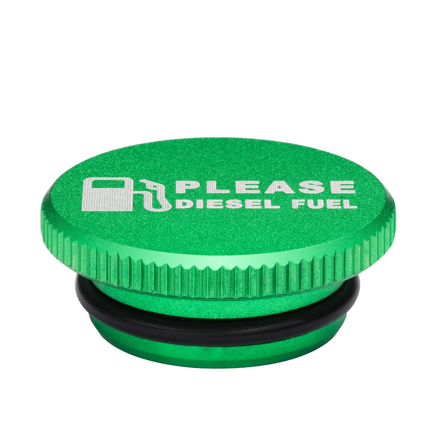 Billet Aluminum Green Fuel Cap Magnetic and Blue DEF Cap for Dodge Ram Cummins 2013-2017 Auto Parts