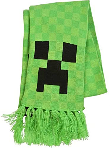 JINX Minecraft Creeper Face Knit Scarf