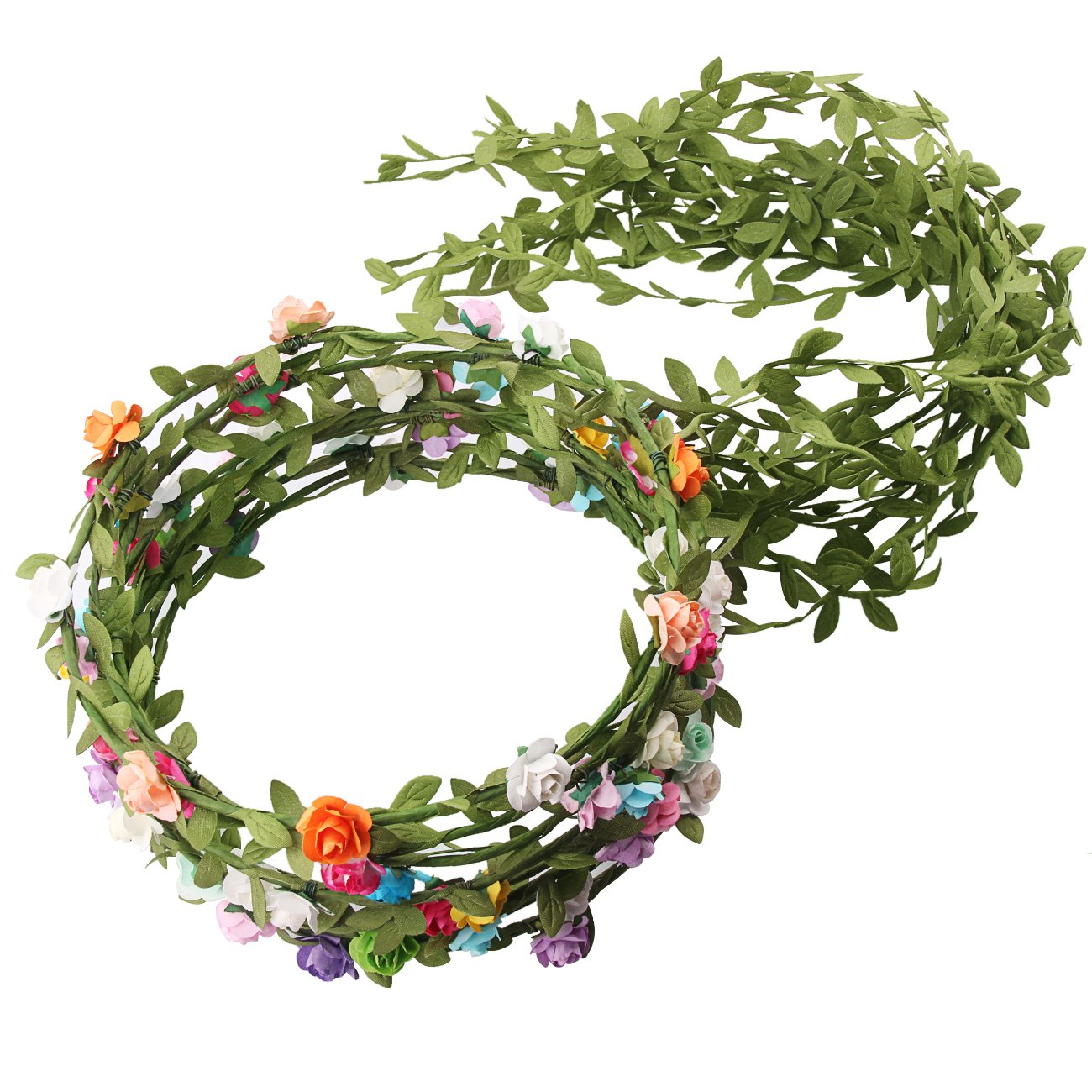 Candygirl 12pcs girl fashion bohemian flower crown floral garland candygirl 12pcs girl fashion bohemian flower crown floral garland headbands for girls yiwu omer accessories co izmirmasajfo
