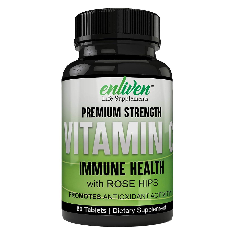 Raw Plant Based Premium Grade Top-Tier Ultra Pure Vitamin C - Buffered 1000 mg Collagen & Immune System Booster, Anti Aging Skin Vitamins, Anti Inflammatory,