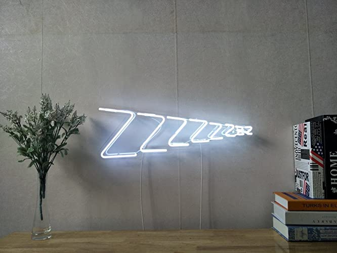 Amazon com: Zzzz Sleep Real Glass Neon Sign For Bedroom