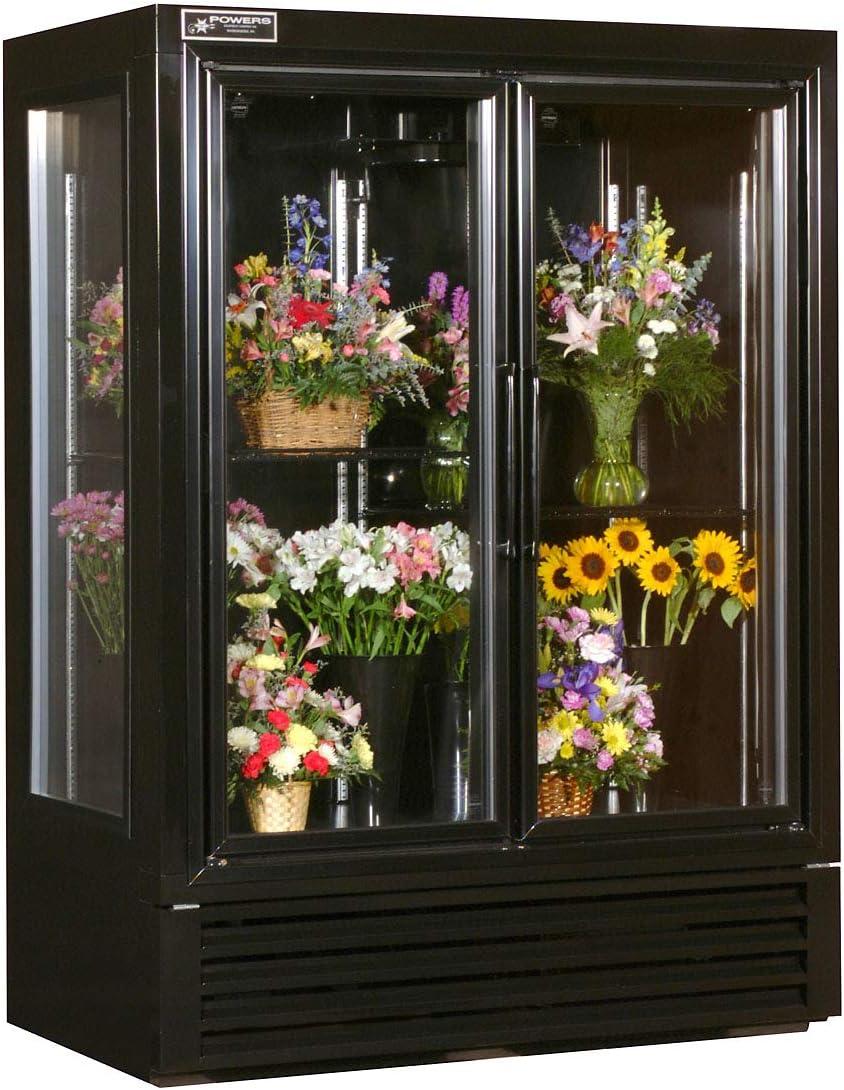 Powers FS52SDHC 2 Door Swinging Floral Cooler - Black