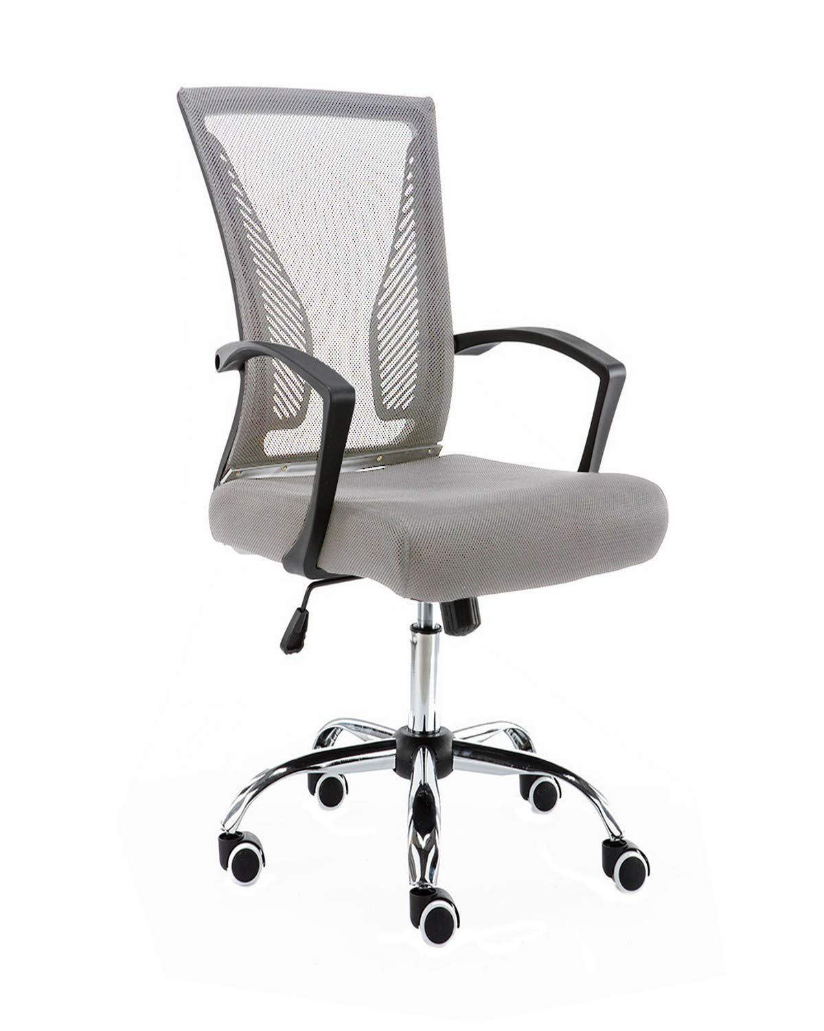 Modern Home BKGRAY Zuna Mid - Back Office Chair, Black/Gray