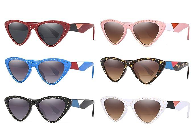 Amazon.com: Gafas de sol vintage con ojo de gato para mujer ...