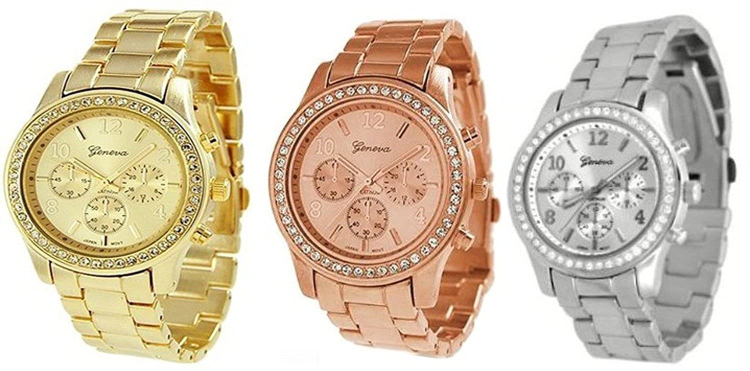 Amazoncom GREENDIMENSION 3PCs Silver Gold and Rose Gold Plated