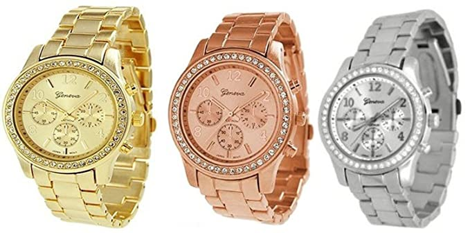 Geneva GV3PC-SIGDRS-MTL - Reloj de pulsera mujer