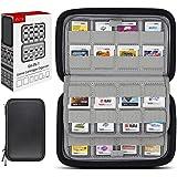 Sisma 64 Cartucho de armazenamento para cartões de jogo para Cartuchos de jogo Nintendo 3DS 2DS DS - Preto