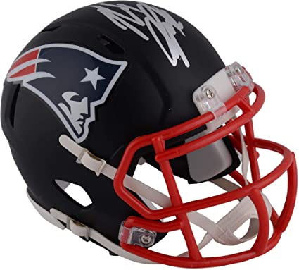 3e3fa5426 Rob Gronkowski New England Patriots Autographed Riddell Black Matte  Alternate Speed Mini Helmet - Fanatics Authentic