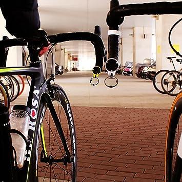 Espejo retrovisor para bicicleta de carreras CORKY by THE BEAM Fijaci/ón en los mangos del manillar Dise/ño Aerodin/ámica