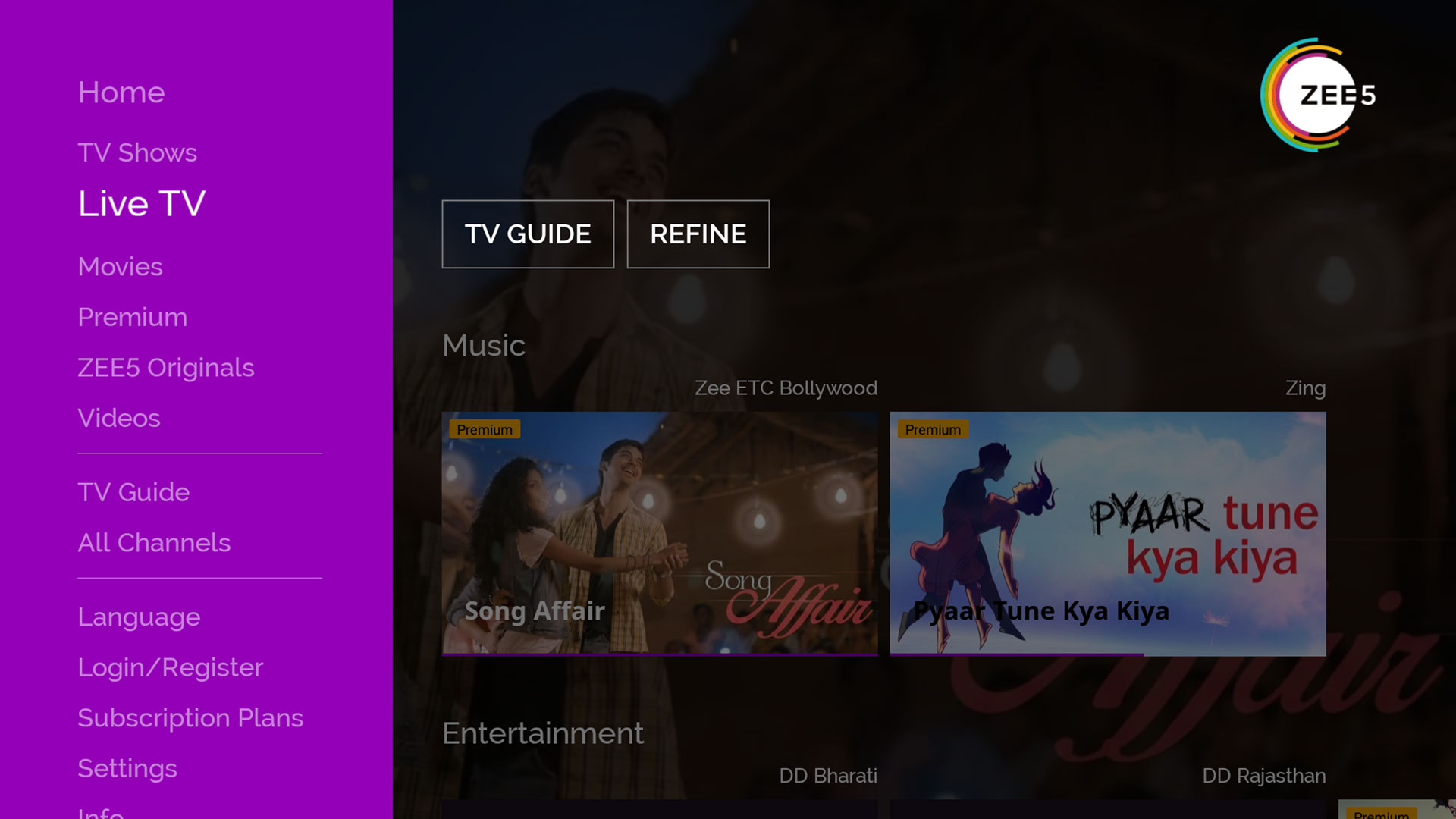 ZEE5 Movies Shows LIVE TV Originals - com zee5 amazon < On-Demand