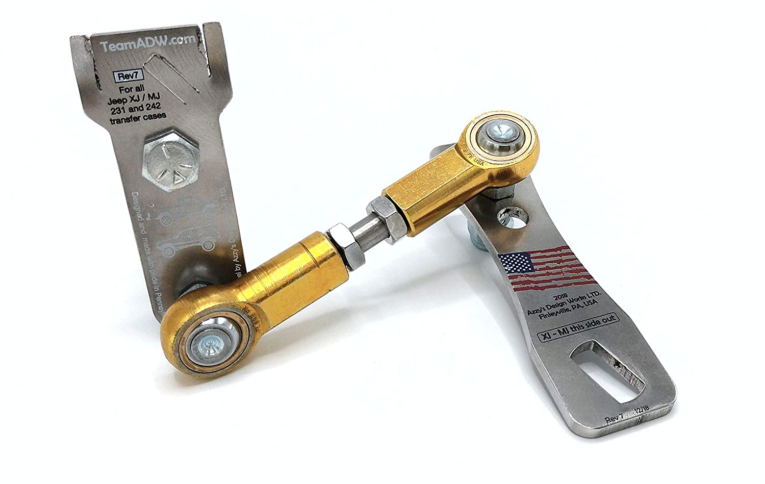 d23b0a2fa8b Amazon.com: New Jeep Cherokee transfer case linkage kit for XJ/MJ Comanche  - New easy install version - … (Stainless Steel): Automotive