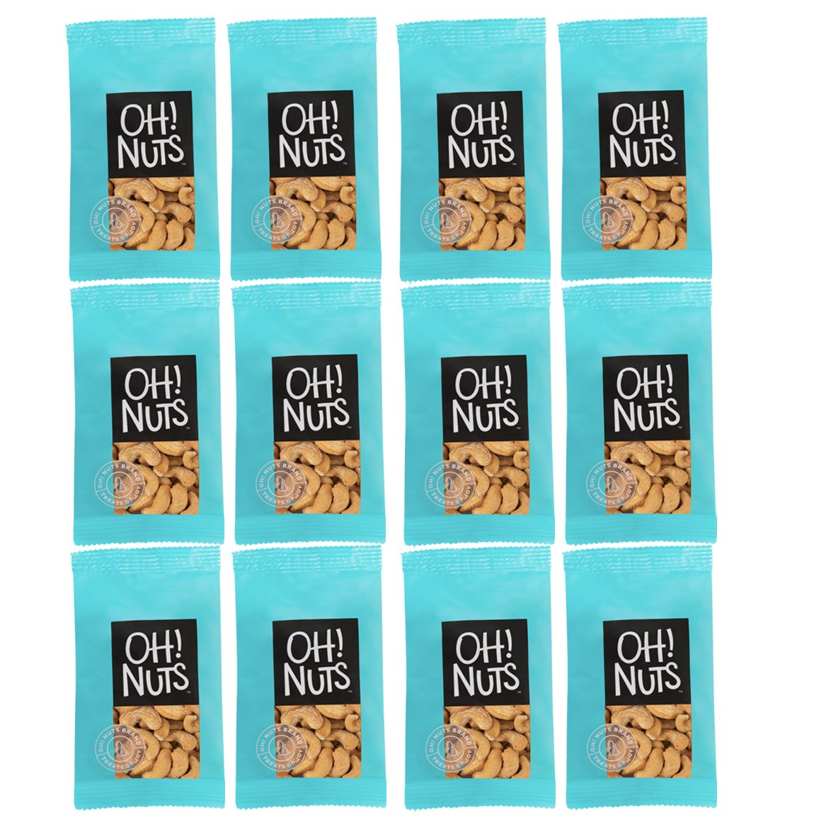 Oh! Nuts Natures Large Cashews | Roasted Salted Cashew Nut | Healthy Premium On the Go Snacks Individual Packs | Kind to your Body