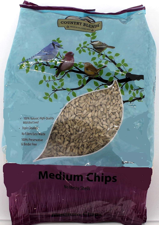 Country Blends Medium Sunflower Chips, 5 lbs Bag - Wild Bird Food