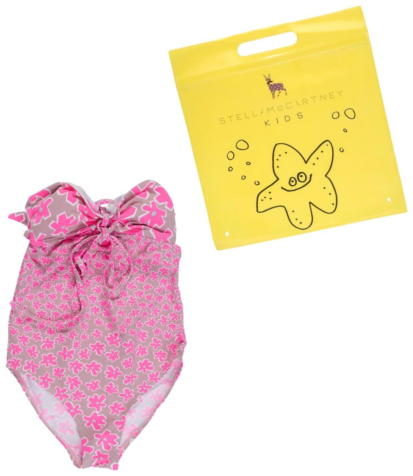 Stella McCartney Kids Girls' Anouk Daisy Print One Piece Swimsuit, Pink, 3