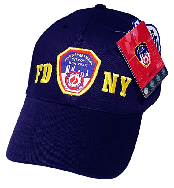 FDNY Baseball Cap Hat Officially Licensed by The New York City Fire ... 94fc136daf4