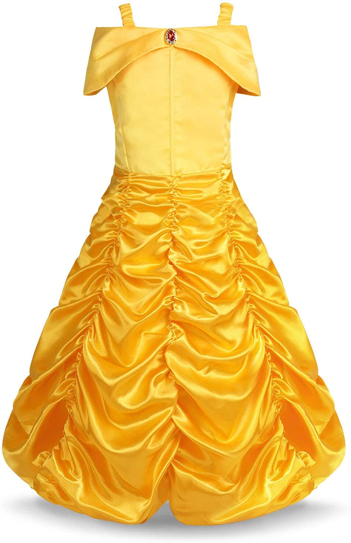 Disfraz de princesa Bella para niñas, disfraz de Halloween: Amazon ...