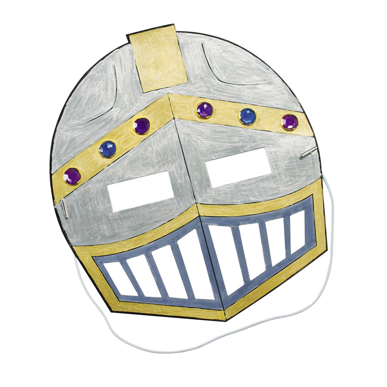 Ritter Maske im Ritterhelm Design zum ausmalen 12 Stück Ritterparty Palandi® cama24com