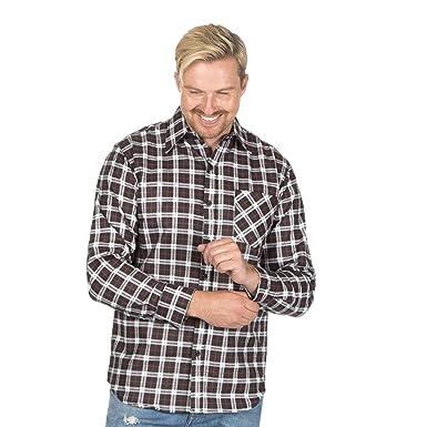 Mens Flannel Shirt Brushed Warm Work Casual Lumberjack Shirts Check Long  Sleeve Extra Warm  Amazon.co.uk  Clothing e7f997108