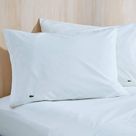 pair Solid 100/% Cotton Percale Pillowcases