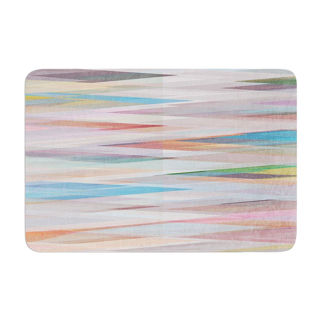 17 by 24 Kess InHouse Mareike Boehmer Nordic Combination II Rainbow Abstract Memory Foam Bath Mat