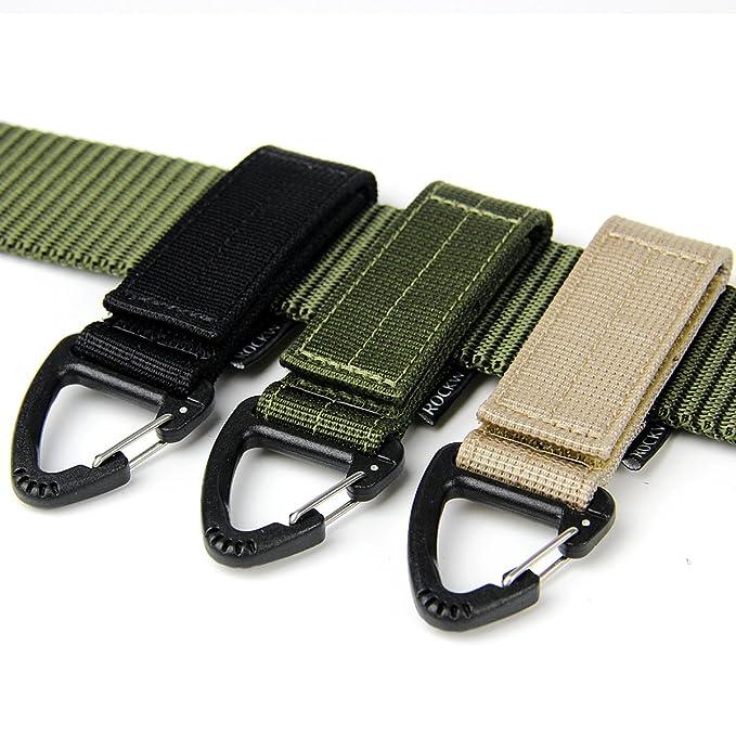 Amazon.com: ROCKWAY ajuste Velcro Nylon Llaveros duradero 2 ...