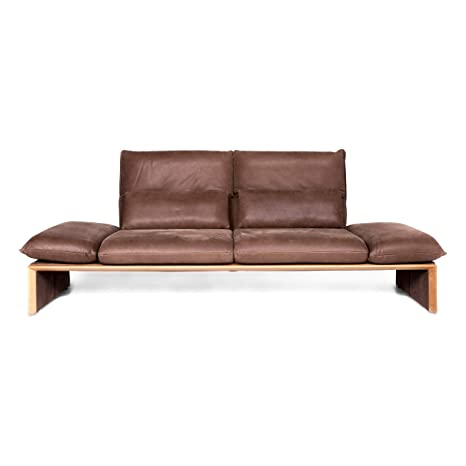 Koinor Houston Designer Leather Sofa Brown Two-Seater Couch ...