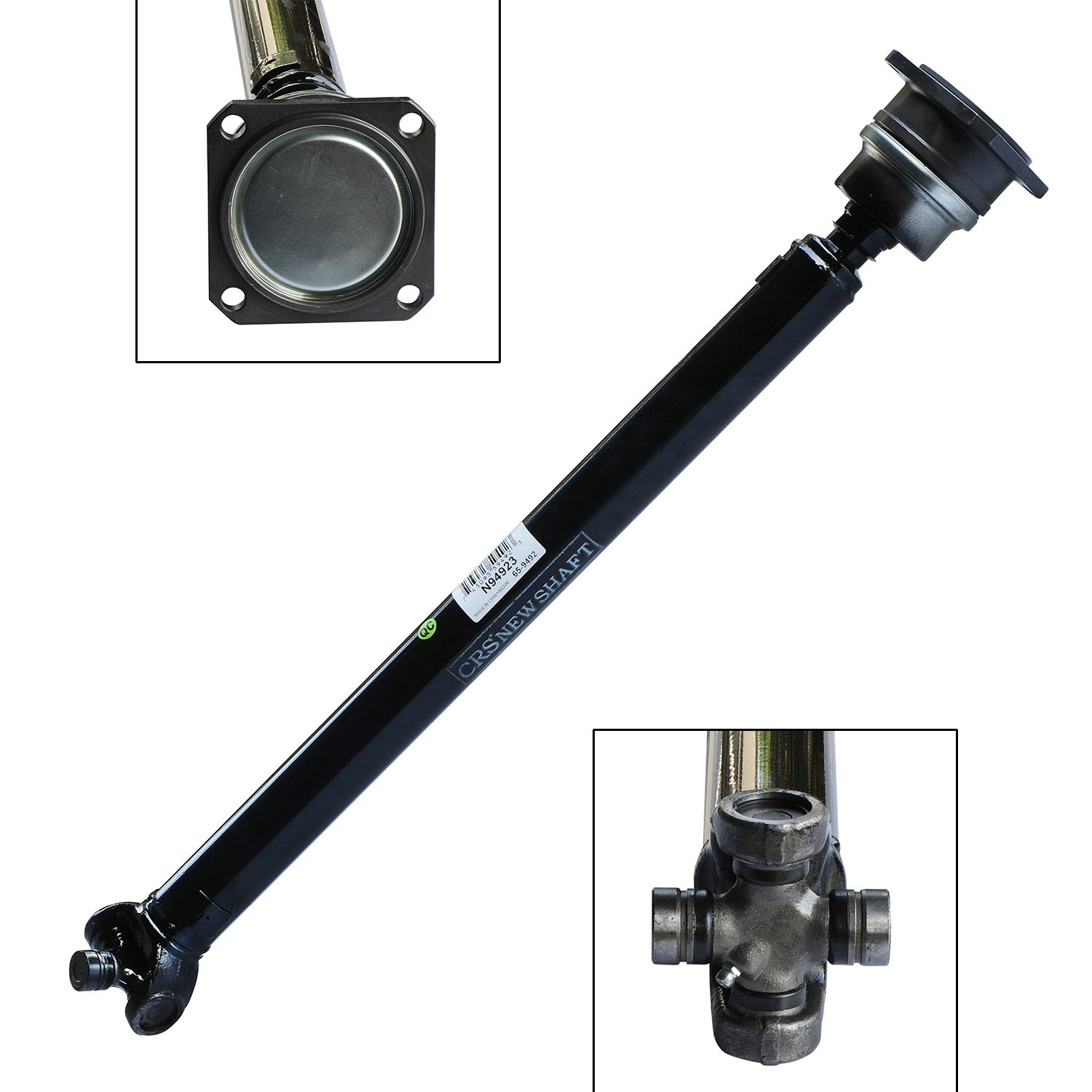 CRS N94923 New Prop shaft/Drive Shaft Assembly, Front, for 2006-2010 Hummer Truck H3/ H3T, about 23 5/8'' long