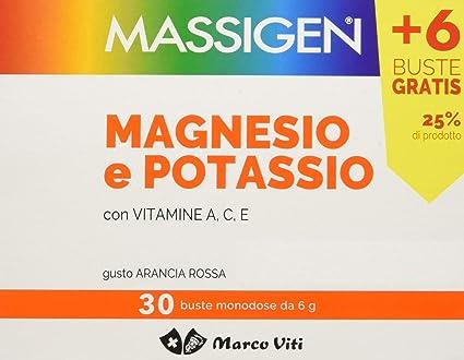 Massigen Magnesio y Potasio 24+6 bolsitas sabor ACE