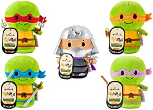 Plush Hallmark Itty Bittys Teenage Mutant Ninja Turtles: Leonardo, Michaelangelo, Raphael, Donatelo & Shredder - Set of Five