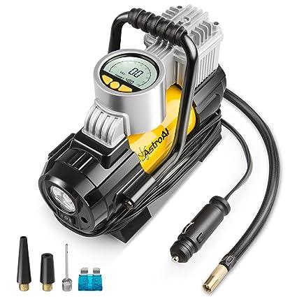 AstroAI - Mini compresor portátil para coche, bomba de aire eléctrica 12 V CC,