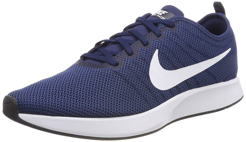 check out 7dca4 38b69 Nike 918227 400 Dualtone Racer Running Shoes , Midnight Navy Blue   White -  Coastal Blue - Black, 11 UK (46 EU)  Amazon.co.uk  Sports   Outdoors