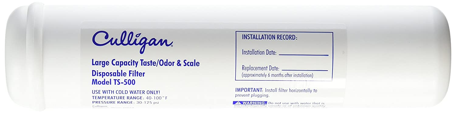 Culligan TS-500 Refrigerator and Icemaker Filter Single Unit White