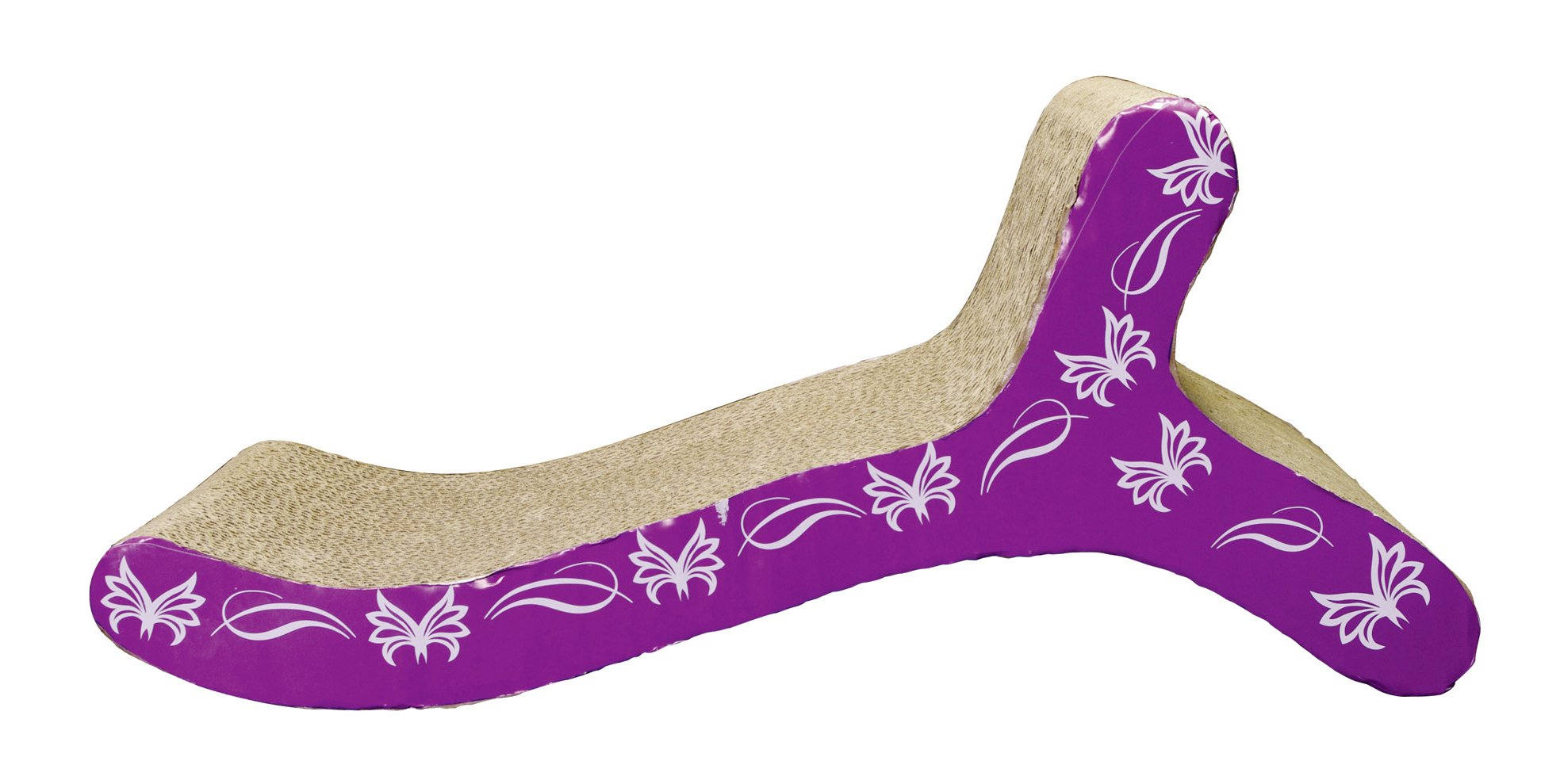 Catit Style Scratcher with Catnip, Butterfly Chaise by Catit