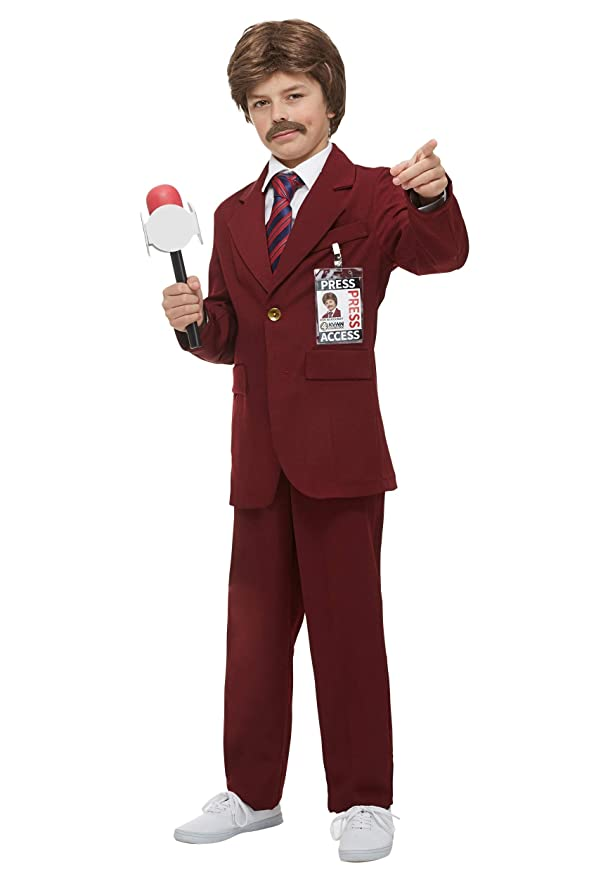60s 70s Kids Costumes & Clothing Girls & Boys Child Anchorman Ron Burgundy Costume $54.99 AT vintagedancer.com