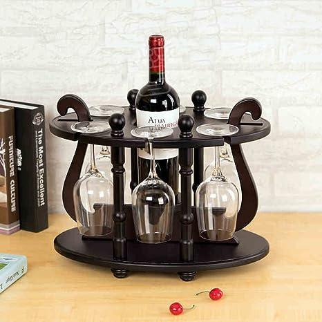 Madera botellero vino portavasos para colgar para copas Accesorio de Bar para colgar boca abajo taza