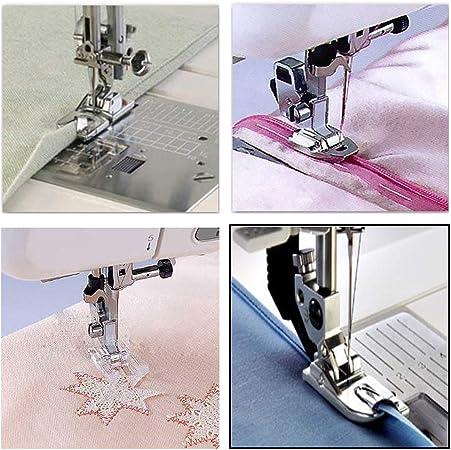 Juego de 11 piezas de prensatelas para máquina de coser, accesorios de repuesto para máquina de coser Brother Singer Janome Toyota: Amazon.es: Juguetes y juegos