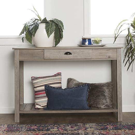 Amazon.com: Nuevos 48 inch Amplia Country Style sofá mesa en ...