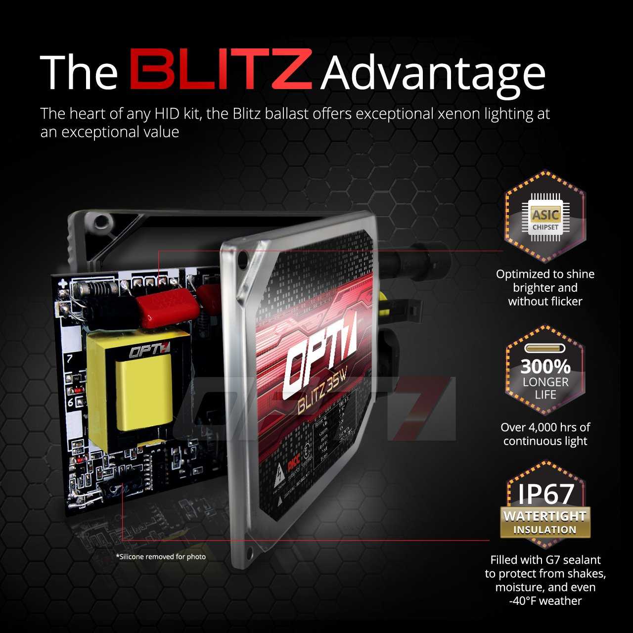 Opt7 Blitz 35w 9006 Hid Kit Relay Bundle All Bulb Wiring Schematic Sizes And Colors 2 Yr Warranty 8000k Ice Blue Xenon Light Automotive