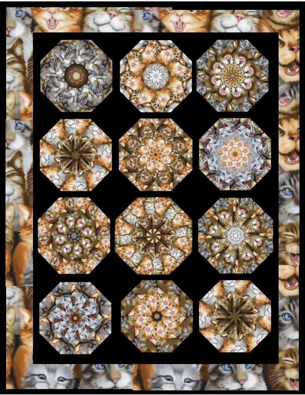 "SEA SHELLS 4-7/"" Kaleidoscope Quilting Pre Cut Block Kit Stack n Whack"