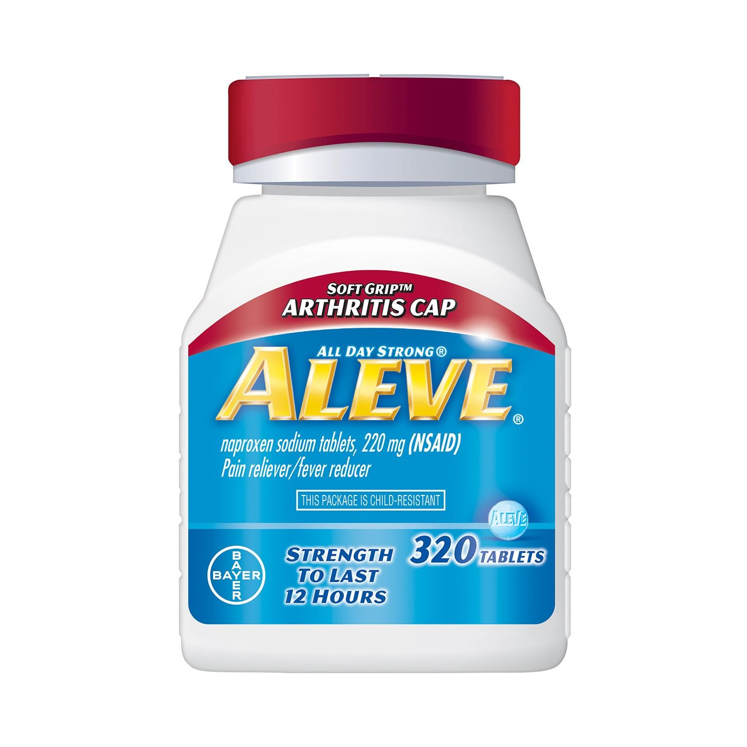 Aleve Pain Reliever Tablets, Arthritis Cap (320 ct.) (pack of 6)