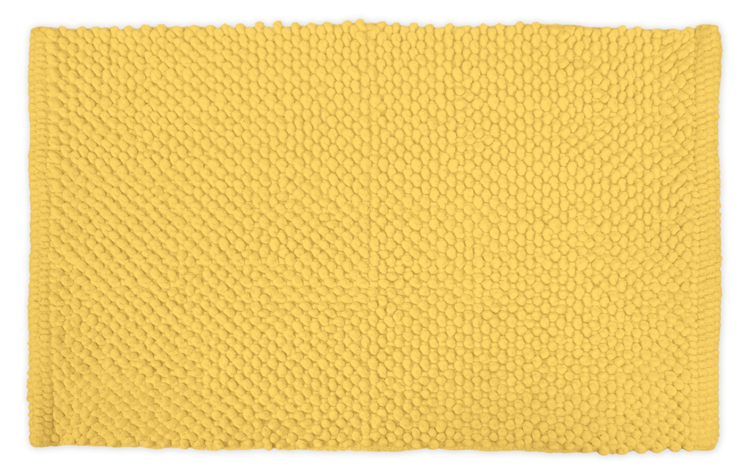 DII Ultra Soft Plush Spa Cotton Pebble Absorbent Chenille Bath Mat Place in Front of Shower, Vanity, Bath Tub, Sink, and Toilet, 17 x 24'' - Yellow