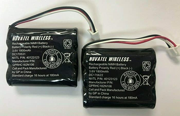 GSParts 2X New Replacement Battery for Novatel Verizon Wireless Home Phone T2000 P/N 40123123 1800mAh