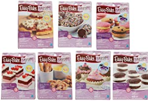 Easy Bake Oven Refills Set of 7 Kits - Truffles, Cakes, Pies, Pretzels, Cookies, Pizza