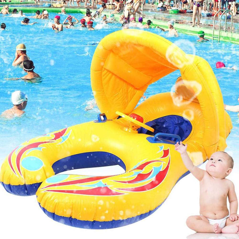 ZFFMSS Inflatable Swimming Rings Child Kids Baby Mother Safety Swim Pool Ring Children Water Play Games Seat Float Boat Summer Trainer by ZFFMSS