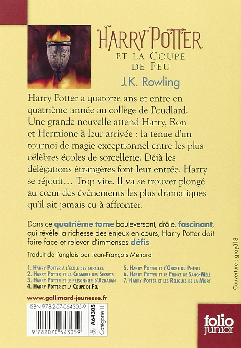 Harry Potter Et La Coupe De Feu Harry Potter And The