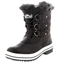 Polar Products Womens Snow Boot Quilted Short Winter Snow Rain Warm Waterproof Boots - 10 - GRS41 YC0020
